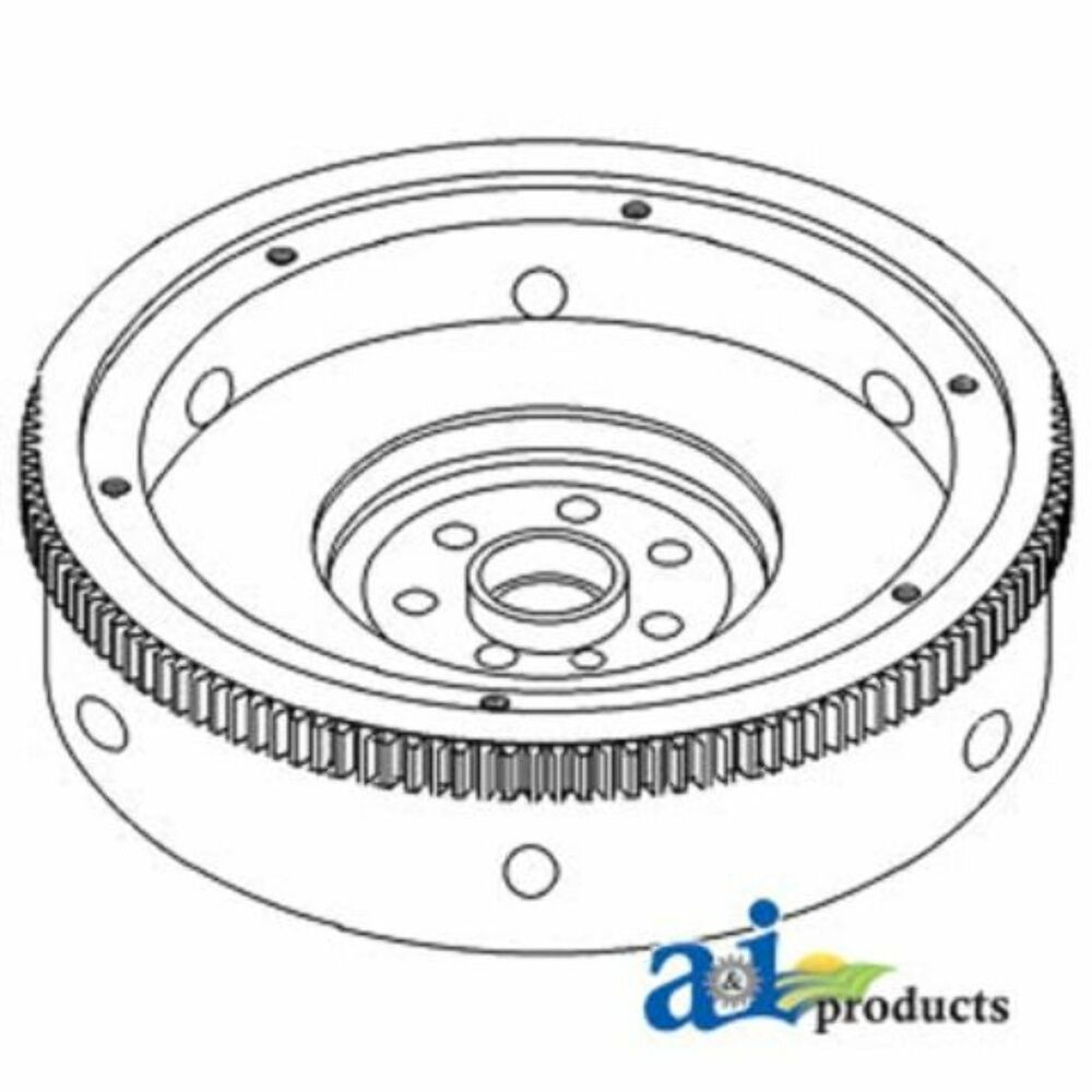 3055980R11 Flywheel w/ Ring Gear Fits Case-IH: 3088,3288