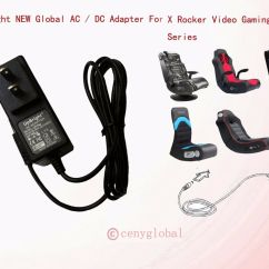 X Rocker Gaming Chair Power Cord Black Folding Chairs Bulk New Ac-dc Adapter For Game 51231 Supply Charger | Ebay