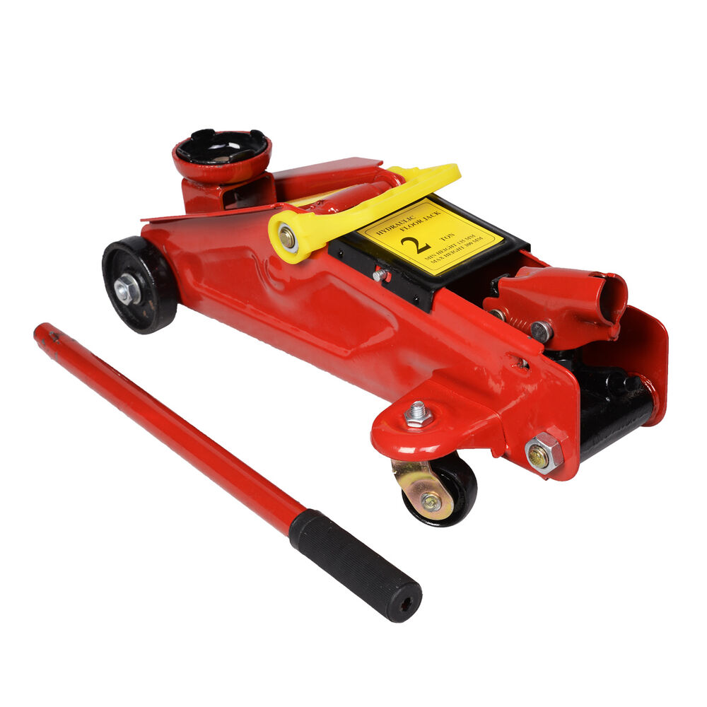 New Mini Red 2 Ton 4000 lbs Hydraulic Floor Jack Lift Tool On Wheels  eBay