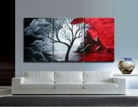3PIECES MODERN ABSTRACT HUGE WALL ART OIL PAINTING ON ...