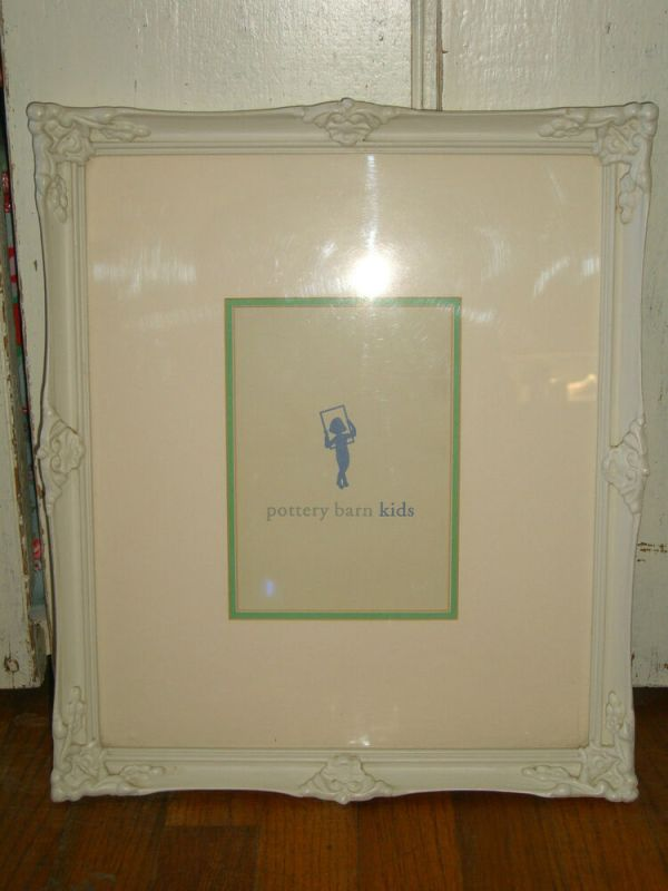 Pottery Barn Kids Baby Vintage Shabby Carved Wood Photo