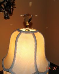 Lamp topper Shade Finial Diamond Lead Crystal glass Cut ...