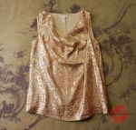 Gold Silk Blouses for Holidays