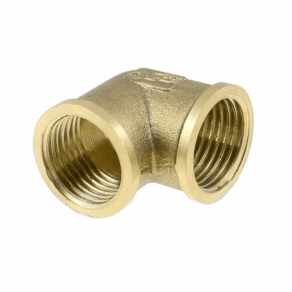 Brass Right Angle Equal Elbow Adapter Pipe Fitting Coupler
