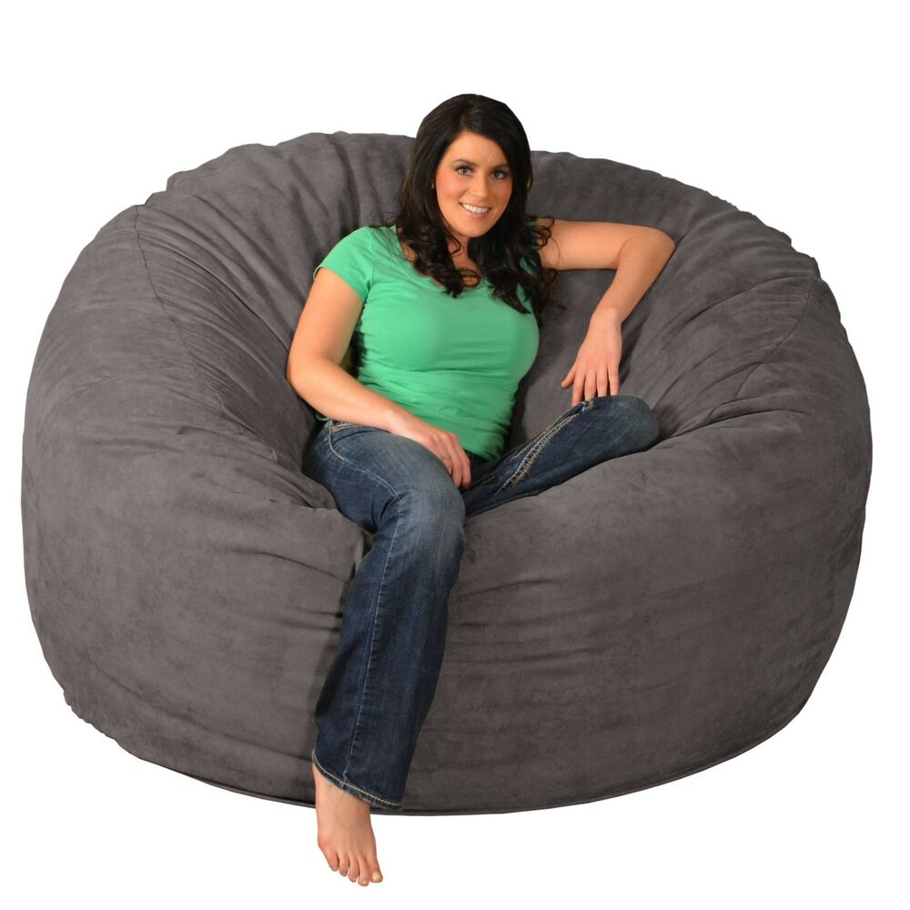 Giant Memory Foam Bean Bag 6foot Chair  eBay