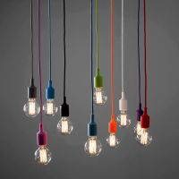 Modern Ceiling Rose Fabric Cable Pendant Lamp Holder Light ...