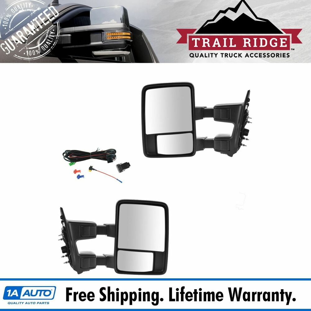 Towing Upgrade Mirror Manual Pair Power Fold For Ford