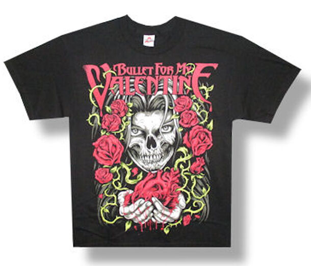 Bullet For My Valentine Roses And Heart Black T Shirt EBay