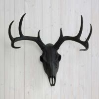 Wall Charmers Deer Skull Yellow Faux Animal Head Fake ...