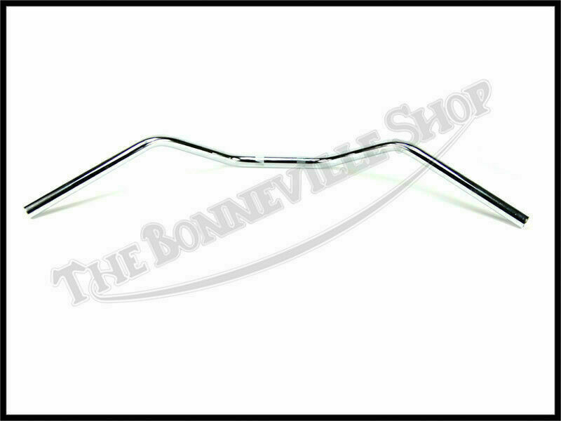 TRIUMPH 500 650 CHROME WESTERN HANDLEBARS DRILLED UK MADE