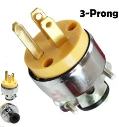new 3 prong replacement male electrical plug heavy duty 3 wire line to 4 prong plug wiring 3 prong 220 plug [ 1000 x 984 Pixel ]