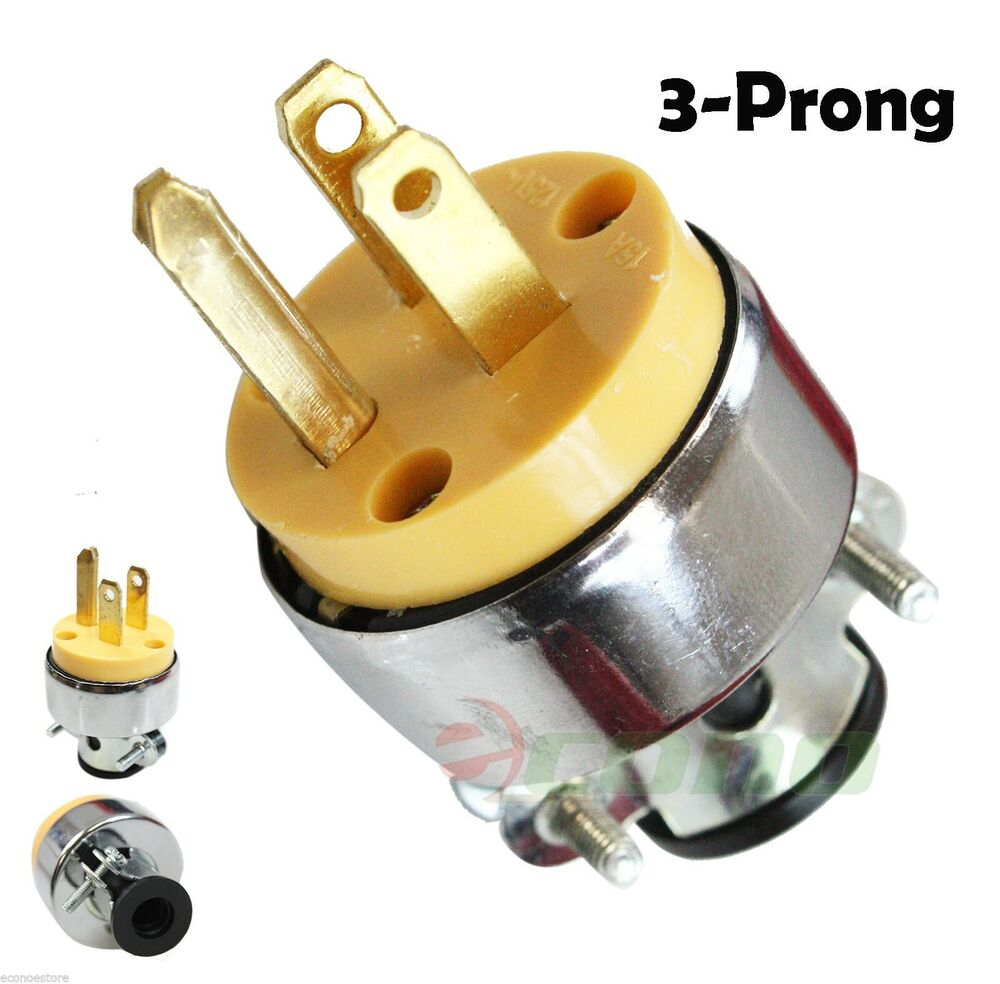 medium resolution of new 3 prong replacement male electrical plug heavy duty 3 wire line to 4 prong plug wiring 3 prong 220 plug