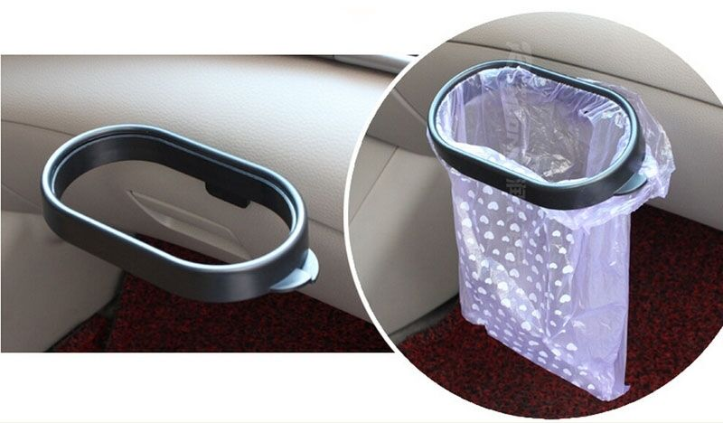 stainless steel kitchen trash cans modern faucets auto car garbage carry bag sucker can rack ...