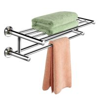 Wall Mounted Towel Rack Bathroom Hotel Rail Holder Storage ...