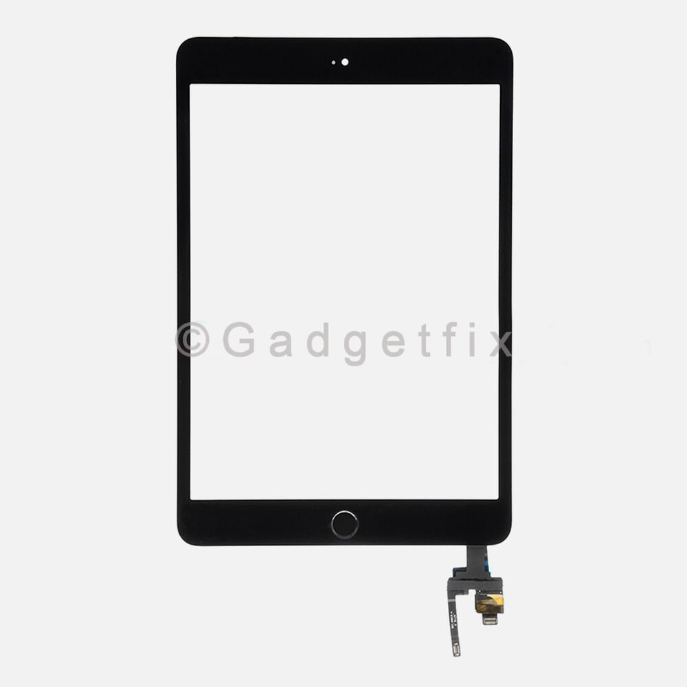 Touch Screen Digitizer + IC Board Home Button Flex for