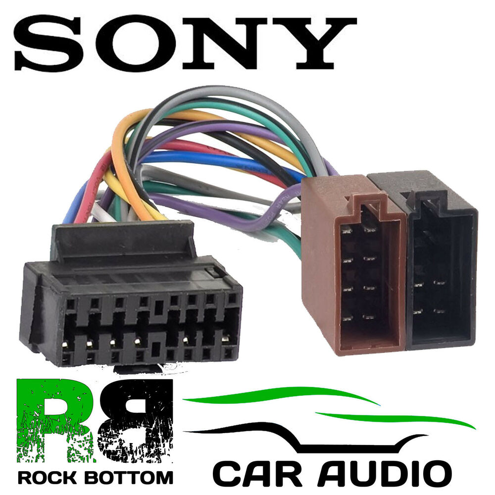 hight resolution of details about sony cdx gt260mp car radio stereo 16 pin wiring harness loom iso lead adaptor