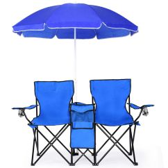 Fold Up Camping Chairs Folding Chair Pallet Portable Picnic Double W/umbrella Table Cooler Beach | Ebay