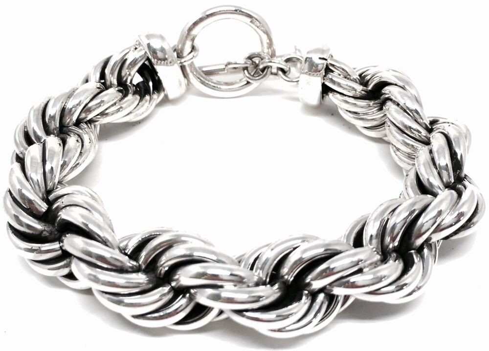 TAXCO MEXICAN 925 STERLING SILVER THICK HEAVY UNISEX CHAIN