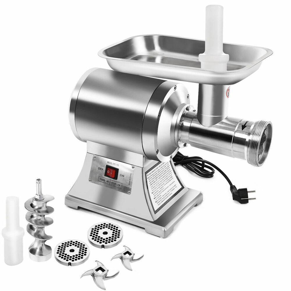 electric grinder kitchen how to repair faucet commercial grade 1hp meat 1100w stainless ...