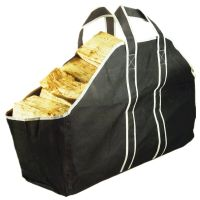 Large Heavy Duty Canvas Log Carrier Bag Fireplace Wood ...