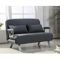 Sofa Bed Convertible Loveseat Couch Chair Suede Pillow ...