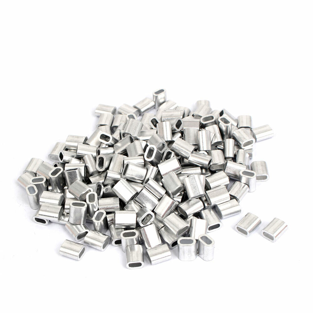 M2.5 Aluminum Cable Sleeves Wire Rope Stops Ferrules