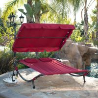 Outdoor Patio Double Wide Patio Pool Hammock Bed Lounger ...