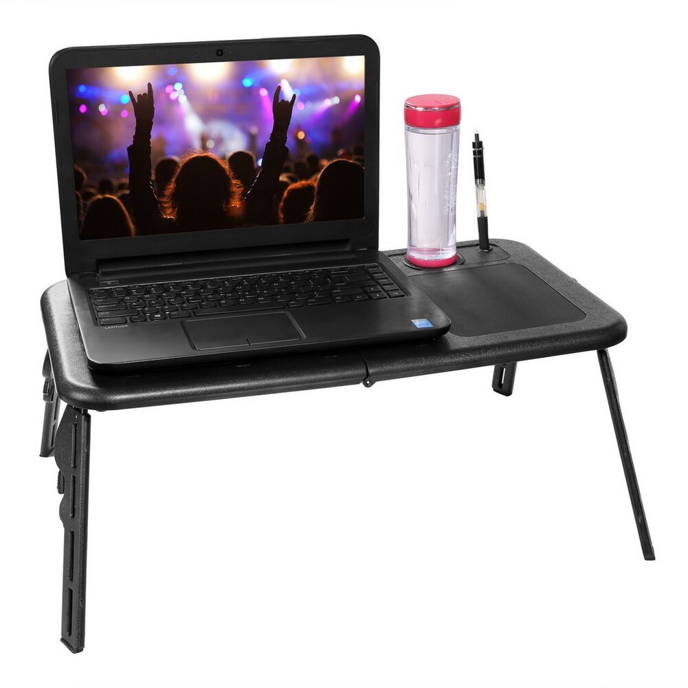Laptop Desk Bed Cup Holder Computer Table Lap Desk Tray