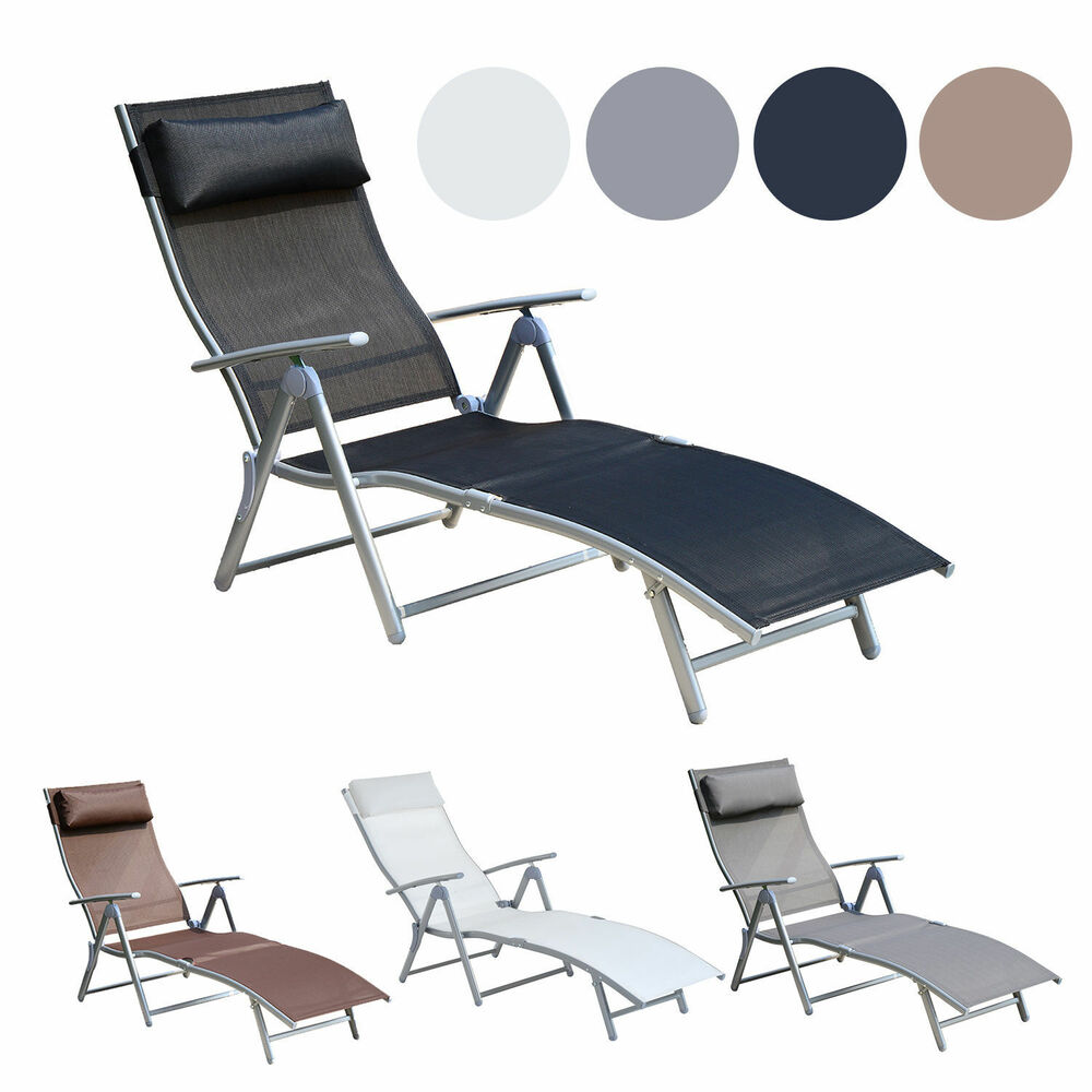 outdoor folding rocking chair ab exercises chaise lounge pool beach yard adjustable patio furniture recliner | ebay