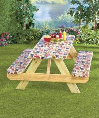 3-PIECE PICNIC TABLE COVER CUSTOM FIT ELASTICIZED BINDING ...