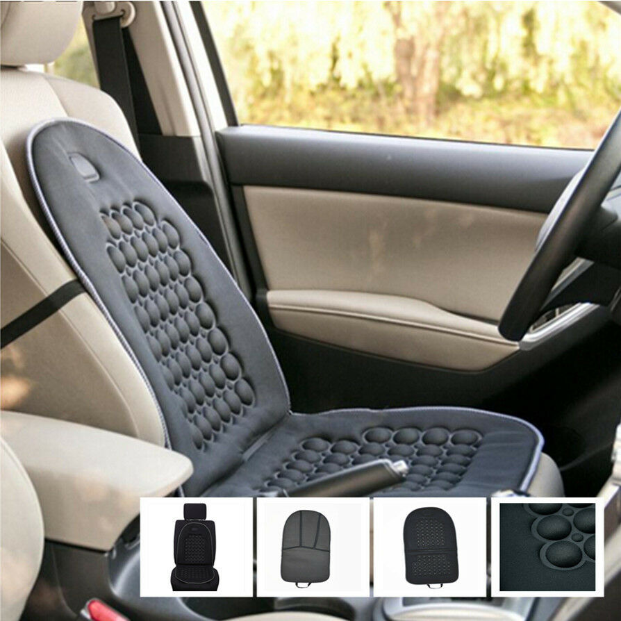 massage pad for chair dining covers edmonton 1 pcs car seat cushion black therapy lumbar support cushions cover 365886650160 | ebay