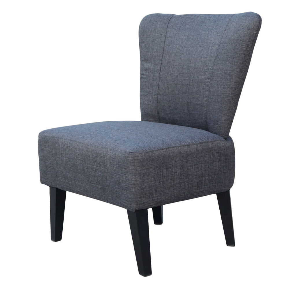 Charcoal Upholstered Accent Chair  eBay