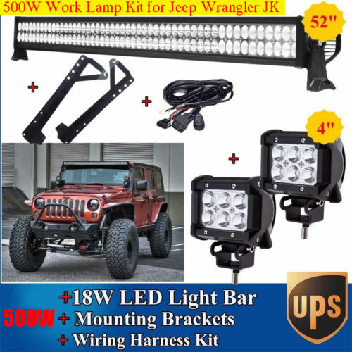 Led Light Bar Wiring Harness For Jeeps