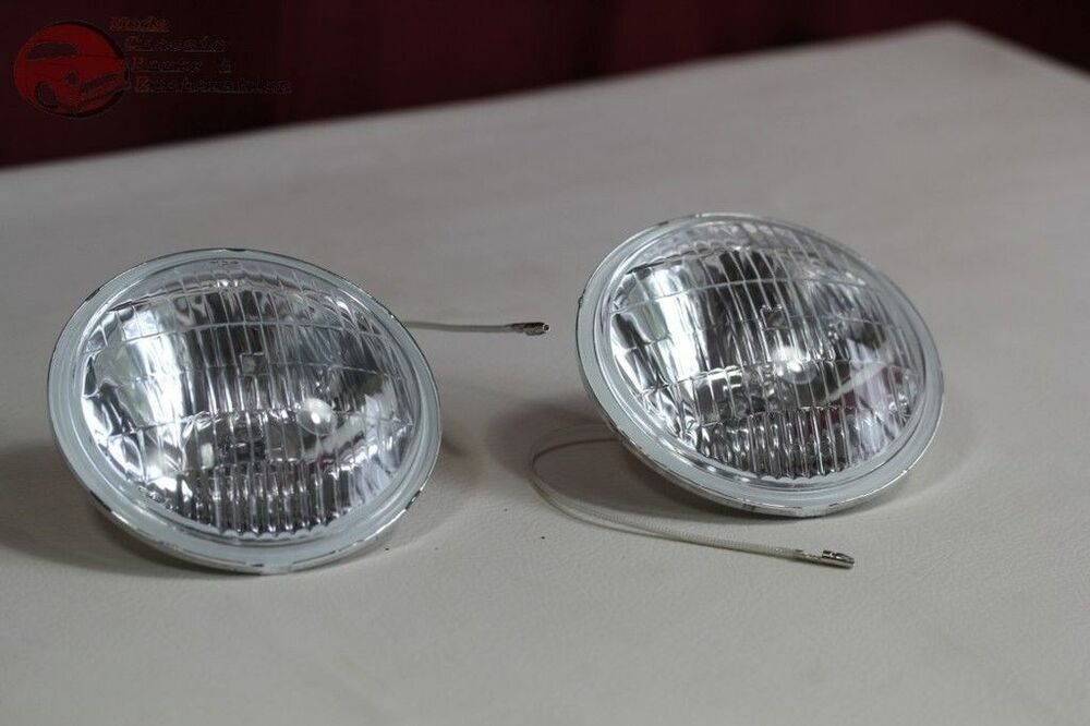 Clear Lens Fog Lamp Light Replacement Bulbs Vintage Style