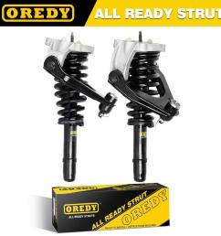 oredy front 2 pcs struts assembly with control arms for 99 06 chrysler sebring 192840148193 ebay [ 1000 x 1000 Pixel ]