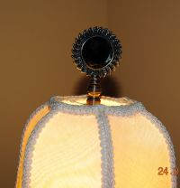Lamp topper Shade Finial Smokey Topaz Faceted antique ...
