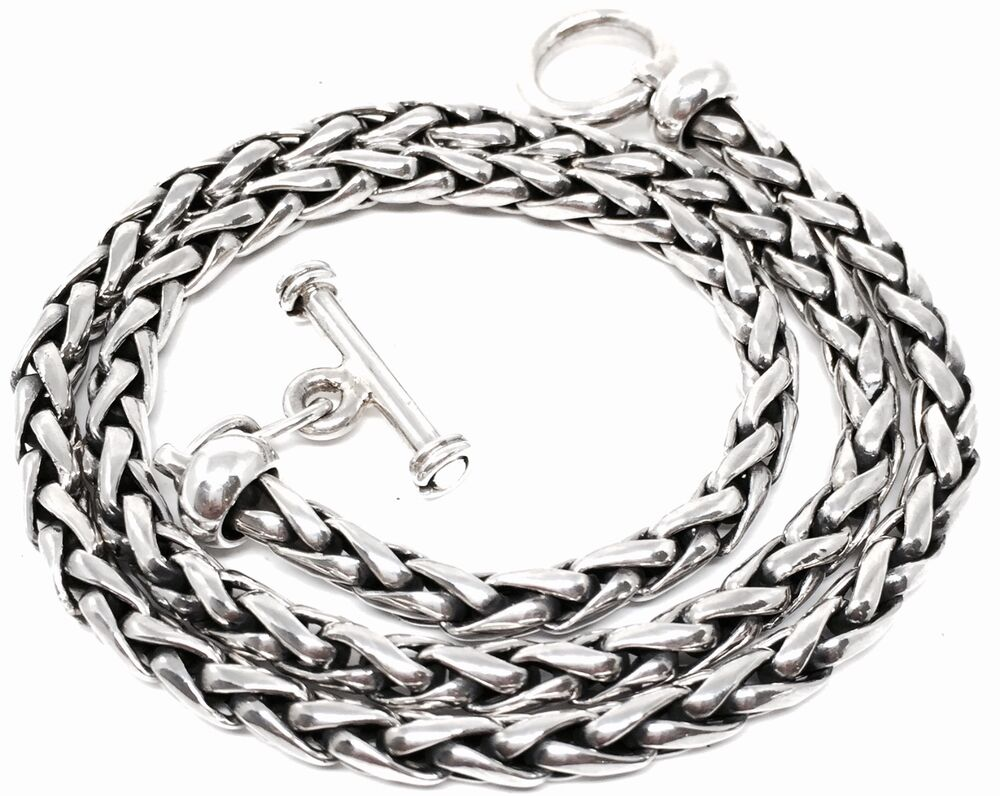 TAXCO MEXICAN 925 STERLING SILVER WOVEN CHAIN NECKLACE