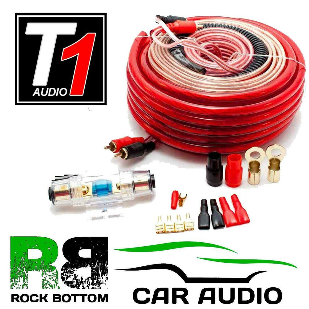 medium resolution of caliber cpk20 1500 watts 4 awg gauge car complete amplifier amp wiring cable kit ebay