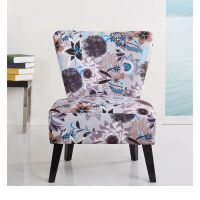 Cora Patterned Fabric Accent Chair | eBay