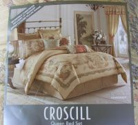 CLEARANCE NEW CROSCILL NORMANDY QUEEN SIZE COMFORTER 4 ...