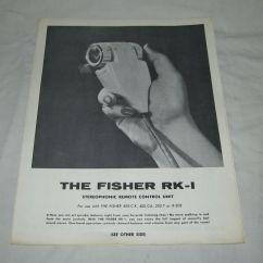 Fisher 400 Art Paper Cat6 B Wiring Diagram Original Rk 1 Remote Control Single Sheet Factory Sales Brochure C Cx Ebay