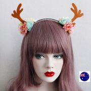 women girl reindeer deer antlers