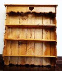 Wall shelf decor Wooden Vintage Shelves Heart Antique ...