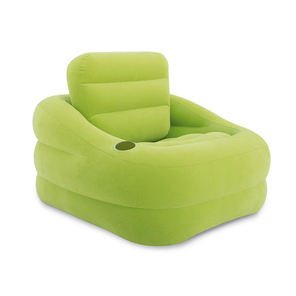 intex sofa chair modern leather sofas and loveseats inflatable indoor or outdoor accent with cup ...