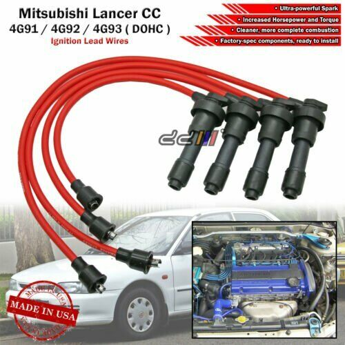 hight resolution of new 8mm spark plug ignition wire for lancer mirage 4g92 4g93 4g93t dohc 92 95