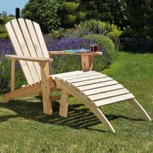 Adirondack Garden Chair Table Footrest Seats Outdoor Patio