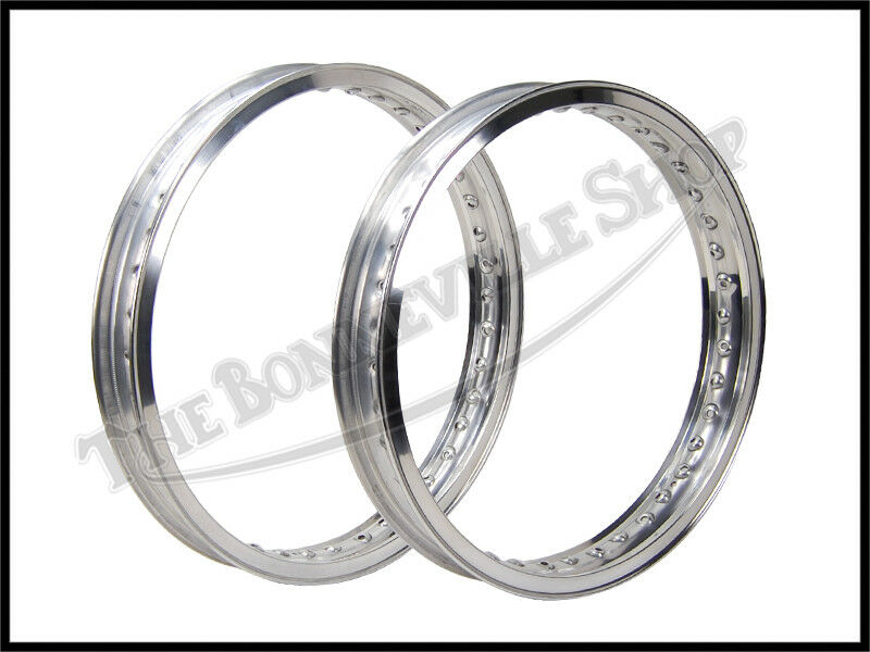 NORTON COMMANDO SHOULDERED ALLOY WHEEL RIM SET (2) WM2 X