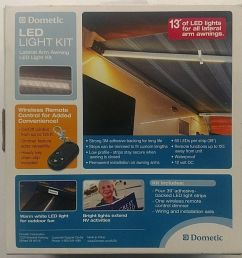 new dometic a e 9500 case awning lateral arm awning led light kit remote 12vdc 713814198534 ebay [ 908 x 888 Pixel ]