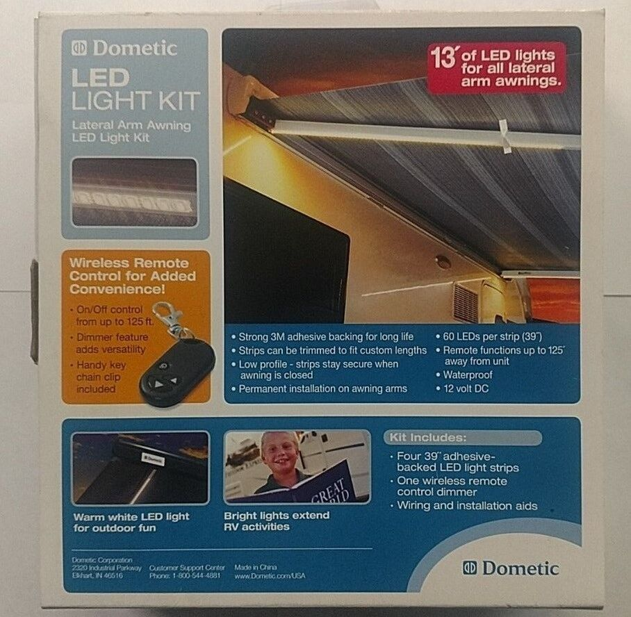 hight resolution of new dometic a e 9500 case awning lateral arm awning led light kit remote 12vdc 713814198534 ebay