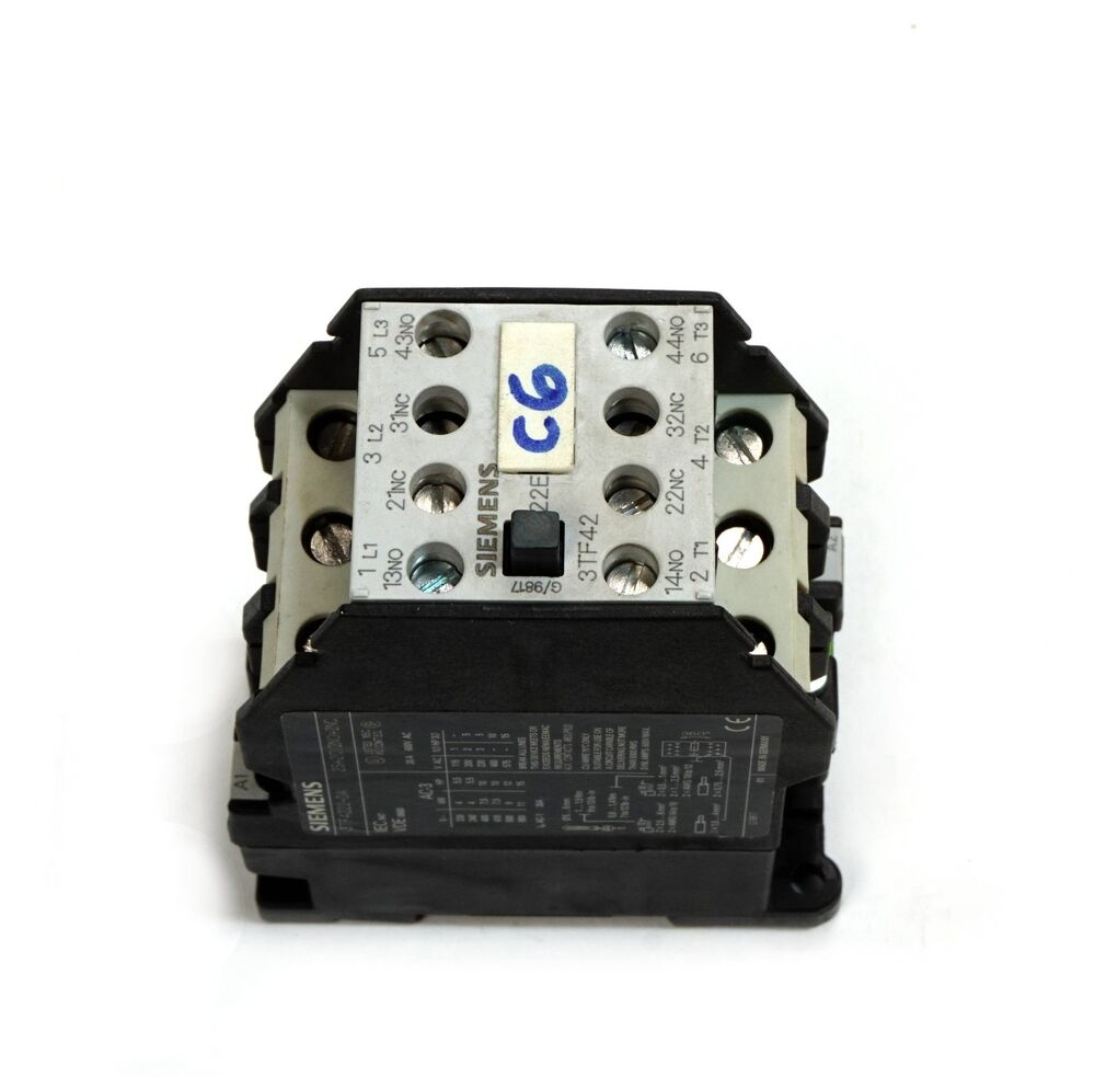 medium resolution of details about siemens 3tf4222 0as0 non reversing contactor 3 phase 30a 600v ac